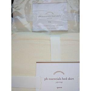 "Essentials Linen Bed Skirt Juponnage Ivory 14"""